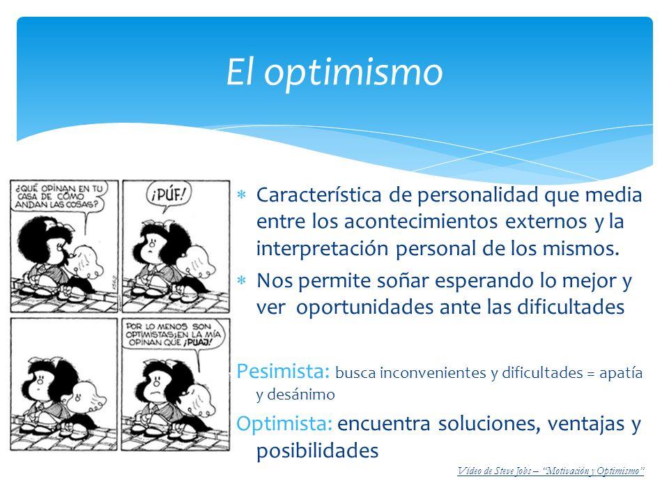 Característica de personalidad que media entre los acontecimientos externos y la interpretación personal de los mismos. Nos permite soñar esperando lo