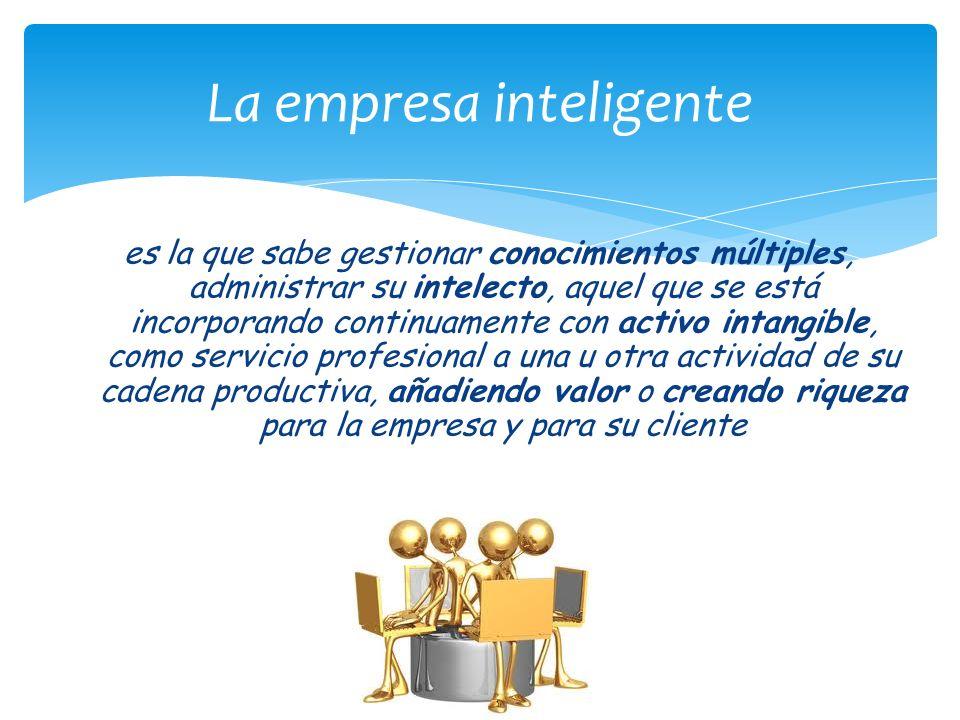 es la que sabe gestionar conocimientos múltiples, administrar su intelecto, aquel que se está incorporando continuamente con activo intangible, como s