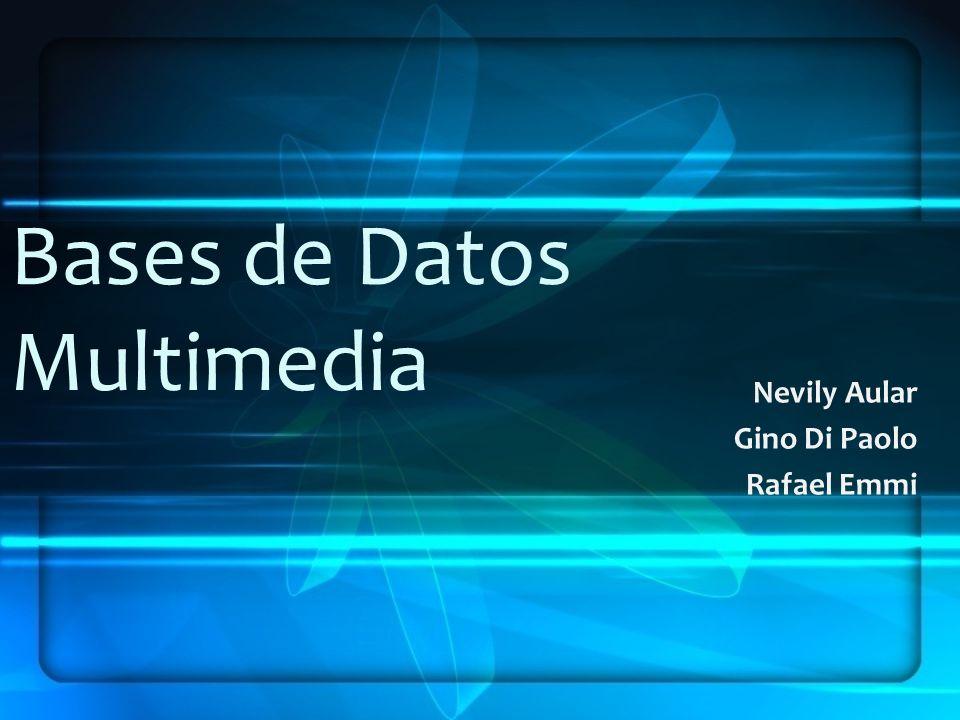 Bases de Datos Multimedia Nevily Aular Gino Di Paolo Rafael Emmi