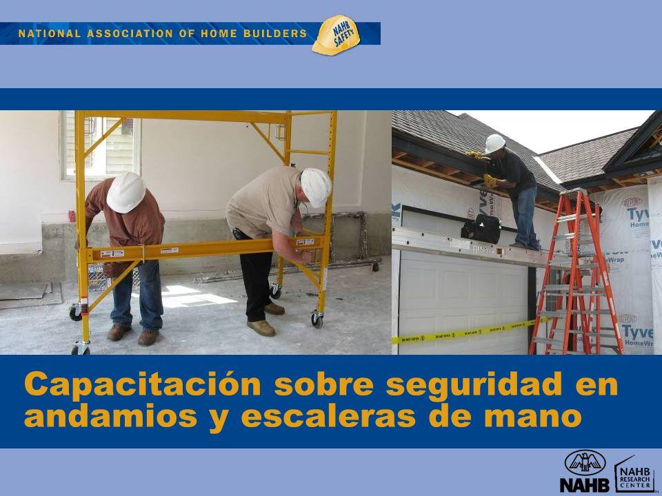 Capacitación sobre seguridad en andamios y escaleras de mano