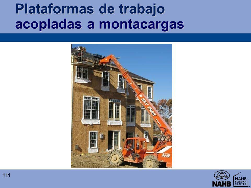 Plataformas de trabajo acopladas a montacargas 111
