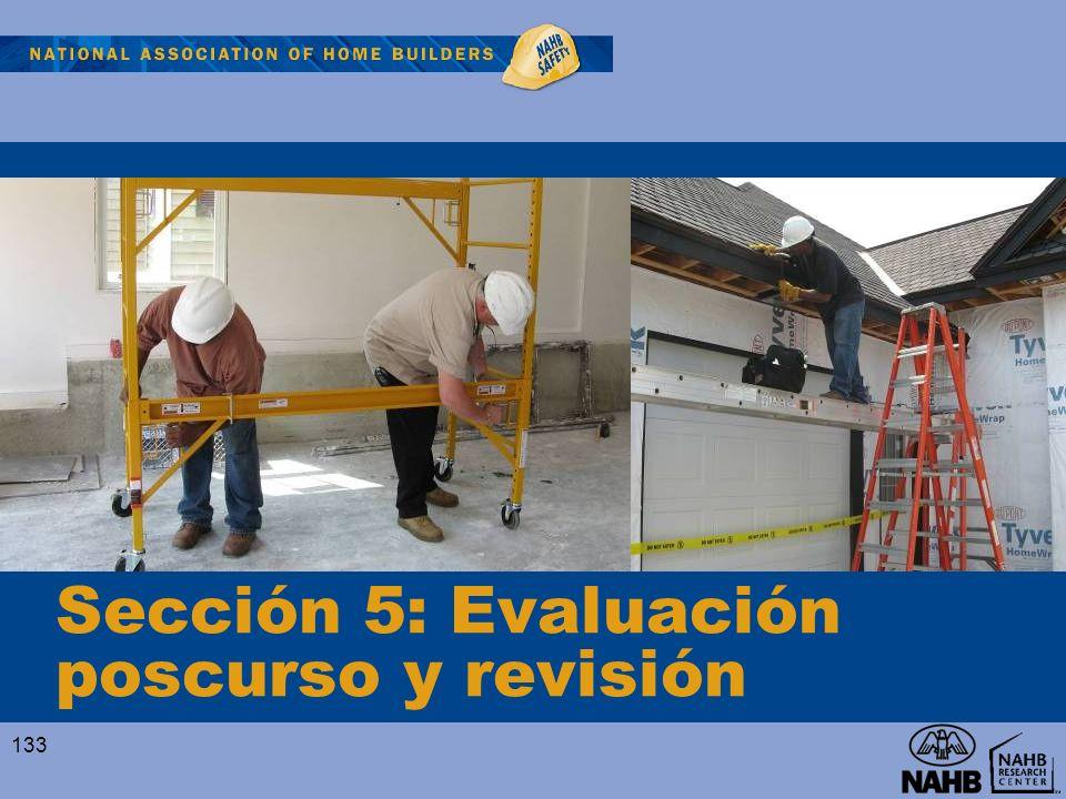 Sección 5: Evaluación poscurso y revisión 133