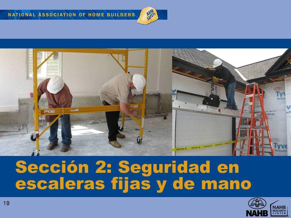 Sección 2: Seguridad en escaleras fijas y de mano 19
