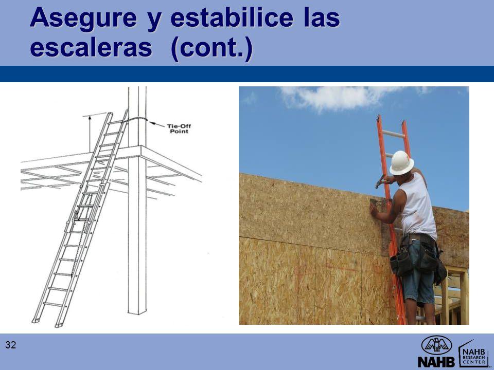 Asegure y estabilice las escaleras (cont.) 32