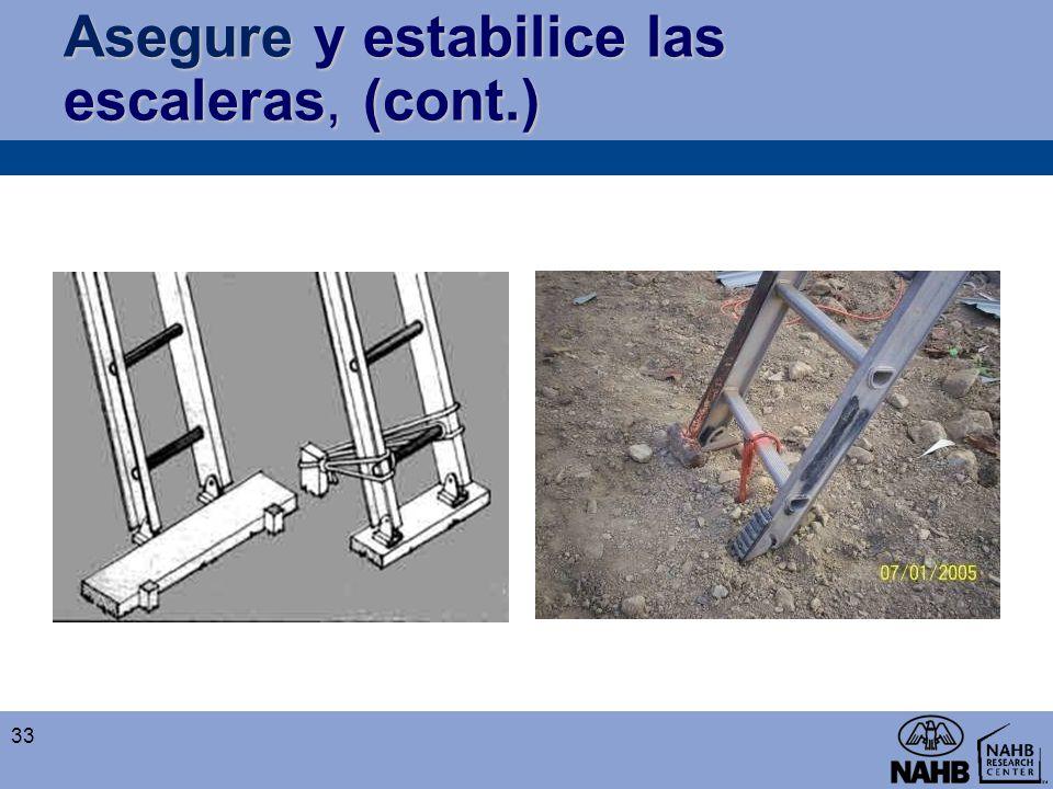 Asegure y estabilice las escaleras, (cont.) 33