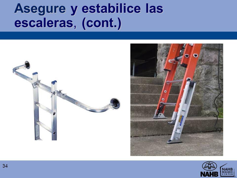 Asegure y estabilice las escaleras, (cont.) 34