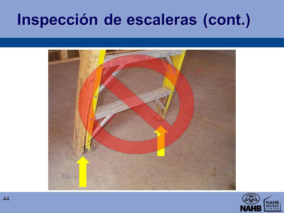 Inspección de escaleras (cont.) 44