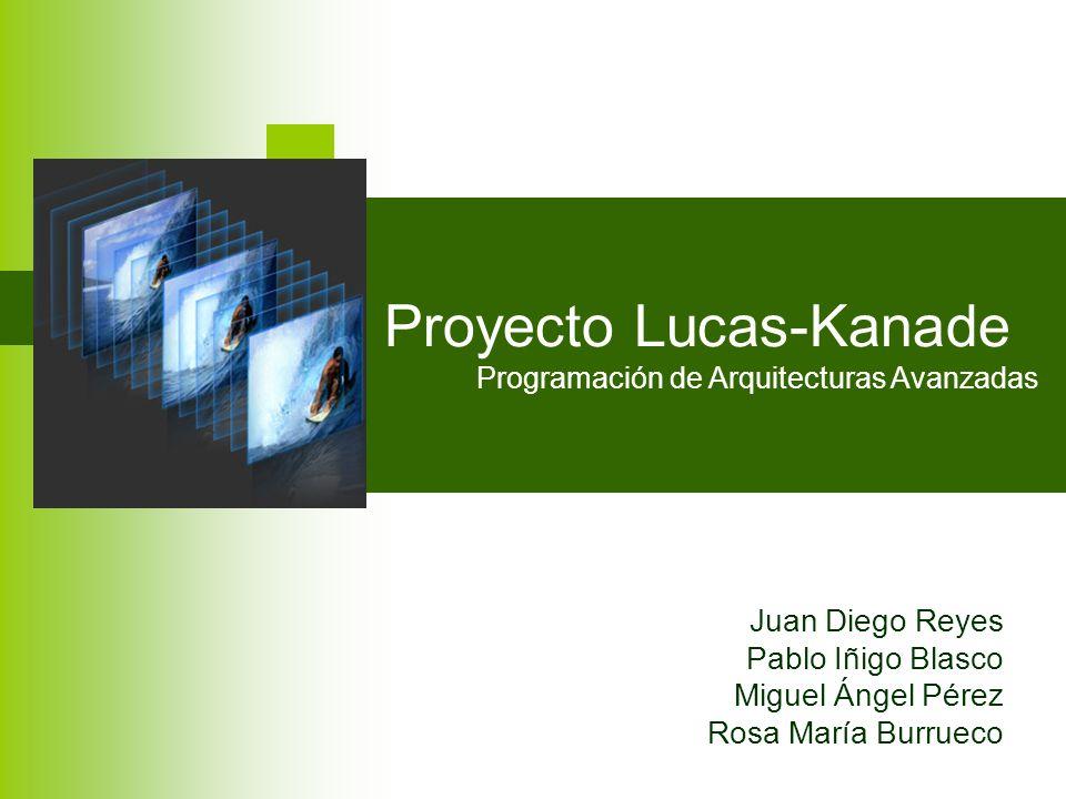 Proyecto Lucas-Kanade Programación de Arquitecturas Avanzadas Juan Diego Reyes Pablo Iñigo Blasco Miguel Ángel Pérez Rosa María Burrueco