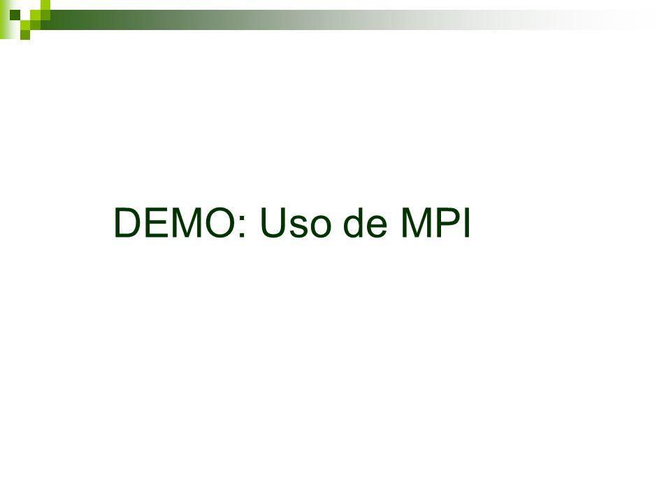 DEMO: Uso de MPI