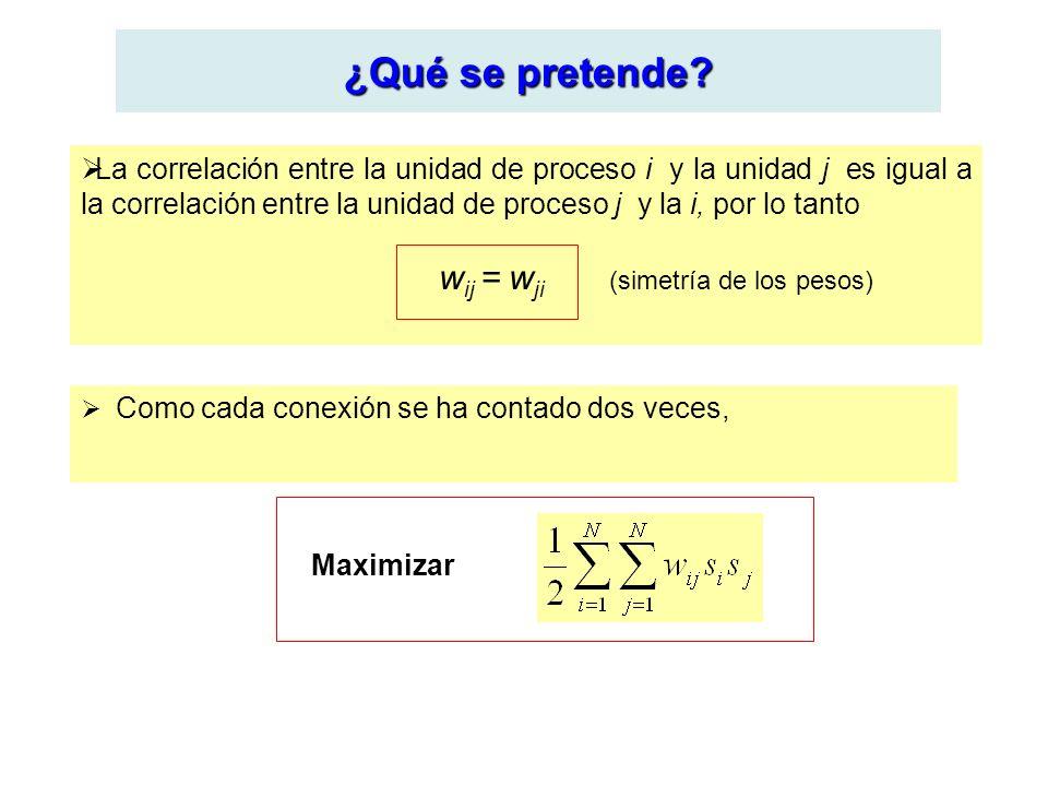 ¿Qué se pretende? La correlación entre la unidad de proceso i y la unidad j es igual a la correlación entre la unidad de proceso j y la i, por lo tant