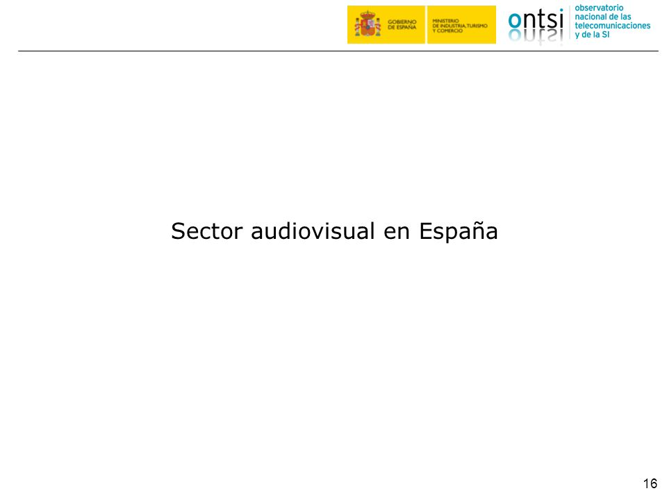 16 Sector audiovisual en España