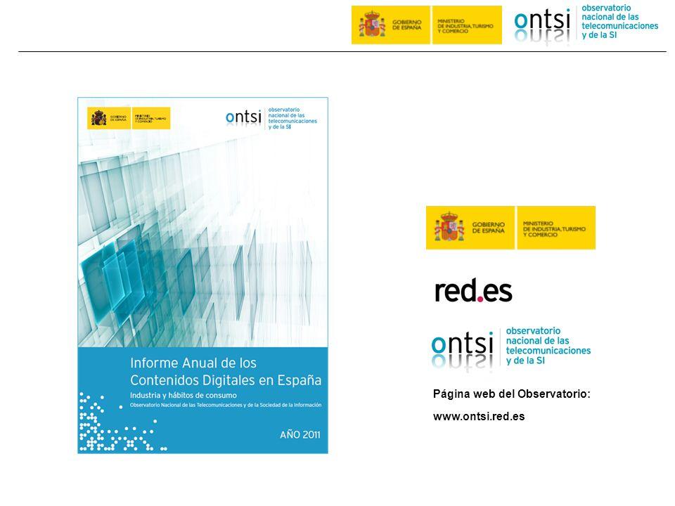 www.ontsi.red.es Página web del Observatorio: