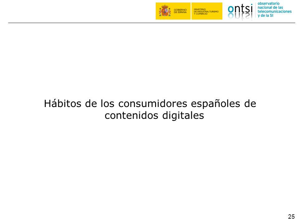 25 Hábitos de los consumidores españoles de contenidos digitales