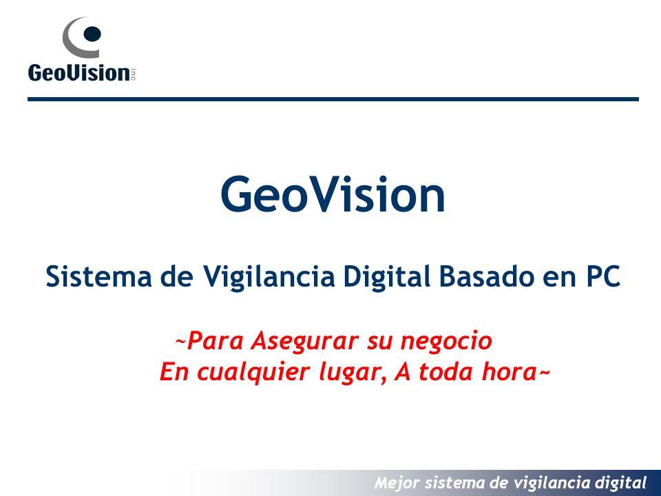 Mejor sistema de vigilancia digital GeoVision Sistema de Vigilancia Digital Basado en PC ~Para Asegurar su negocio En cualquier lugar, A toda hora~
