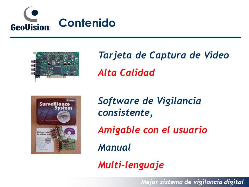 Mejor sistema de vigilancia digital Contenido Tarjeta de Captura de Video Alta Calidad Software de Vigilancia consistente, Amigable con el usuario Manual Multi-lenguaje