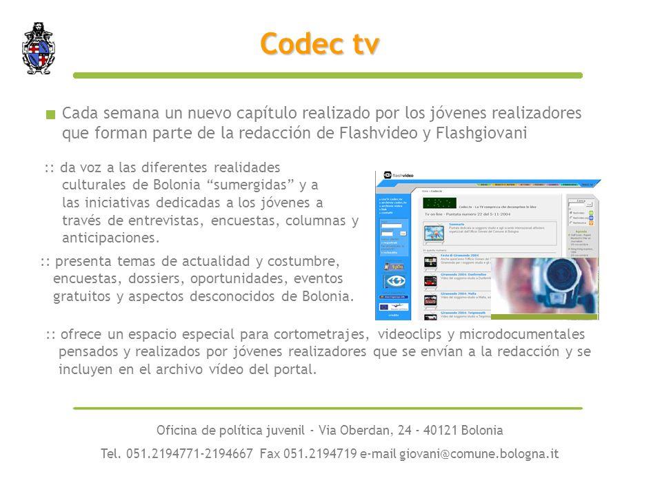 :: presenta temas de actualidad y costumbre, encuestas, dossiers, oportunidades, eventos gratuitos y aspectos desconocidos de Bolonia.