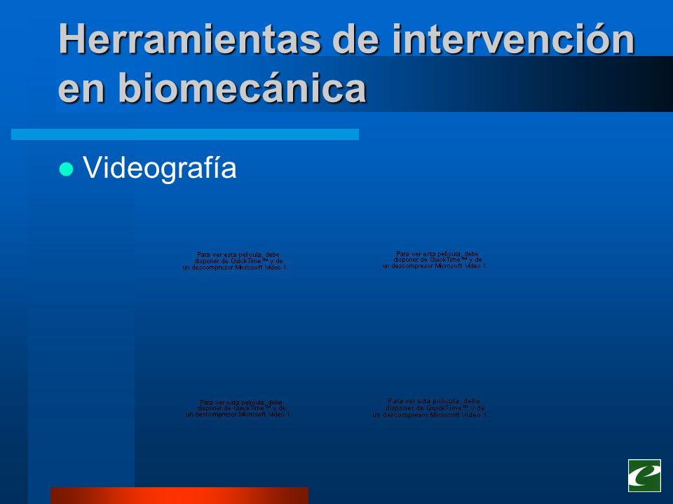 Herramientas de intervención en biomecánica Videografía