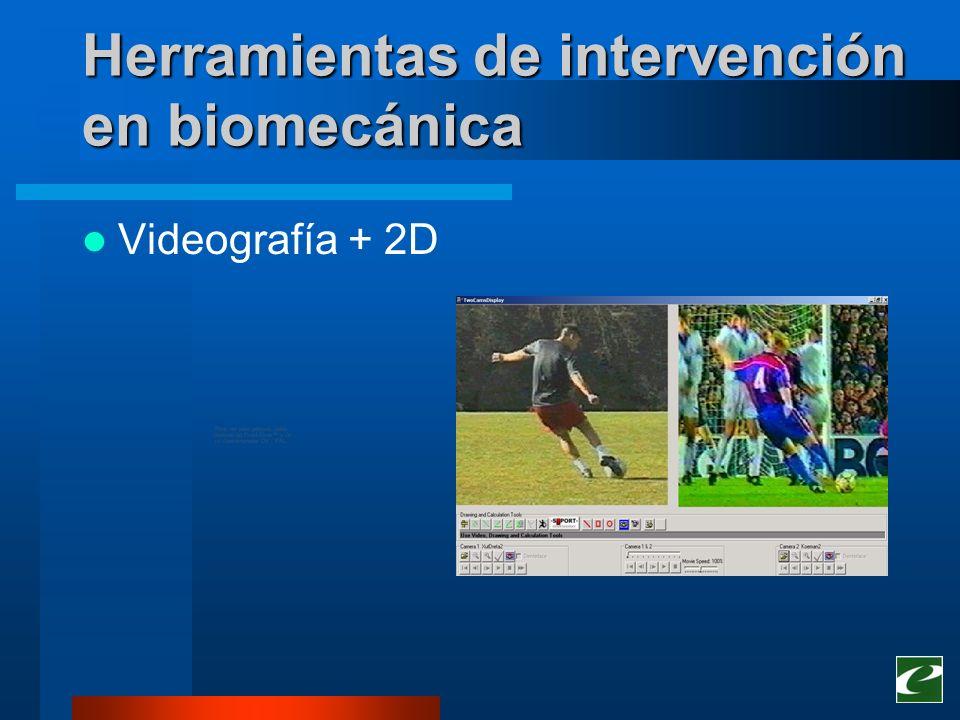 Herramientas de intervención en biomecánica Videografía + 2D