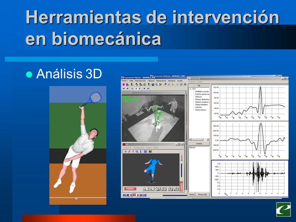 Herramientas de intervención en biomecánica Análisis 3D