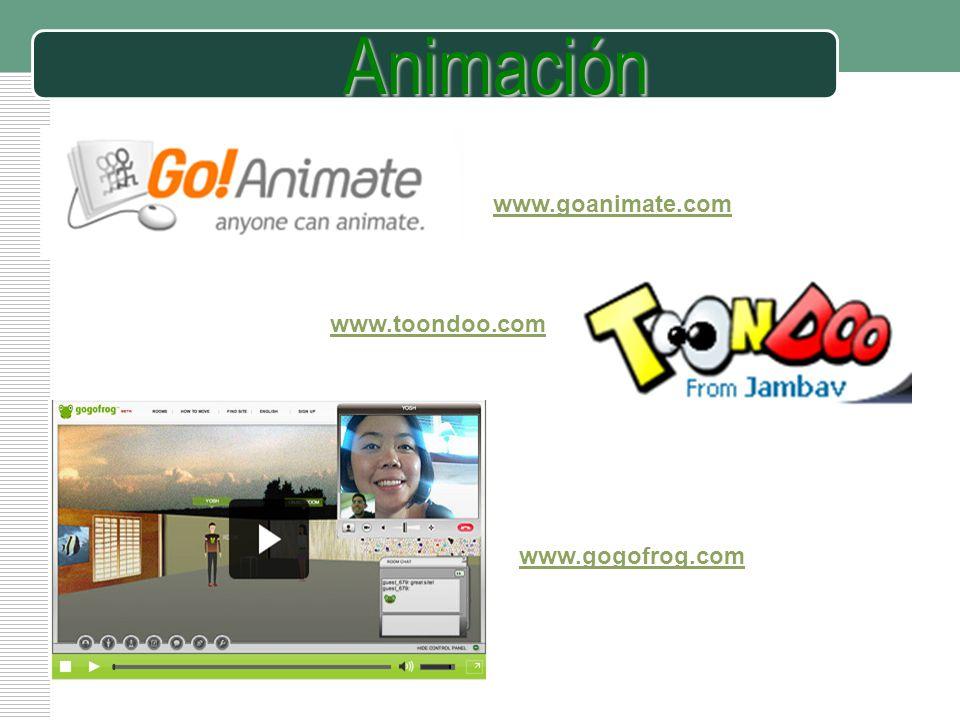 LOGO www.gogofrog.com www.toondoo.com www.goanimate.comAnimación