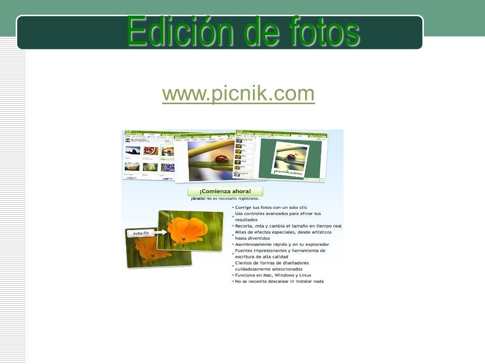 LOGO Edición de fotos www.picnik.com