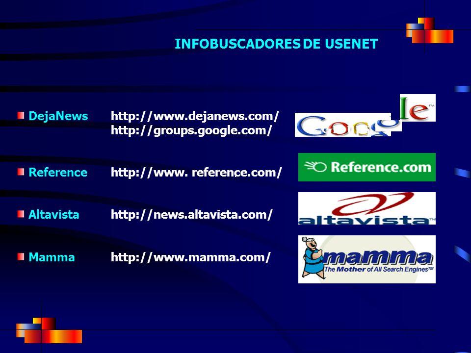 DejaNewshttp://www.dejanews.com/ http://groups.google.com/ Reference http://www. reference.com/ Altavista http://news.altavista.com/ Mamma http://www.