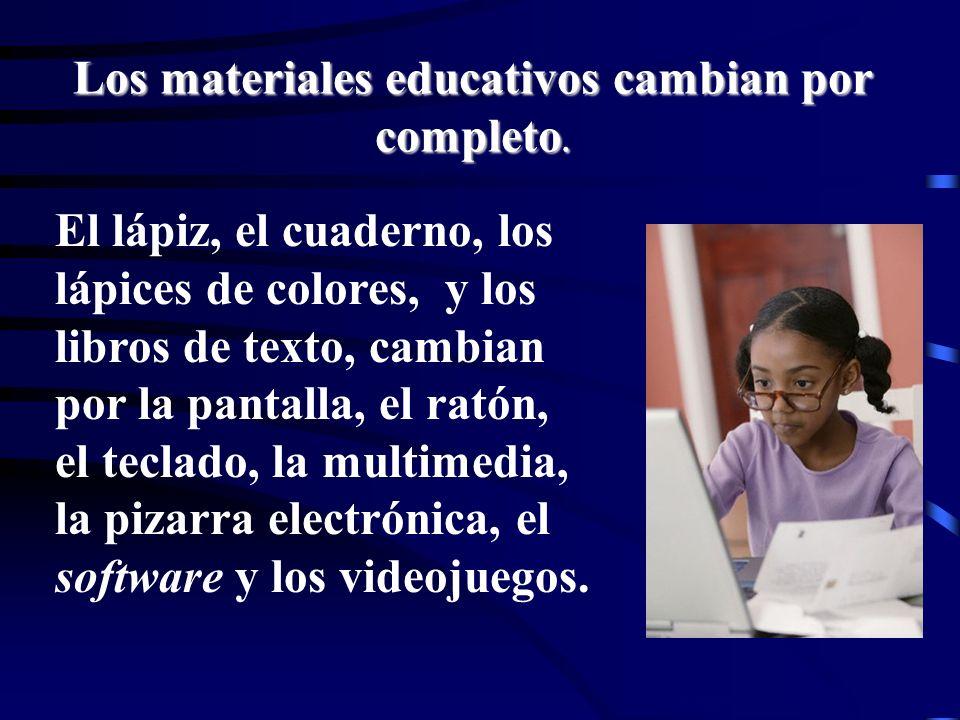 Lorena Fernanda López G. El lápiz, el cuaderno, los lápices de colores, y los libros de texto, cambian por la pantalla, el ratón, el teclado, la multi