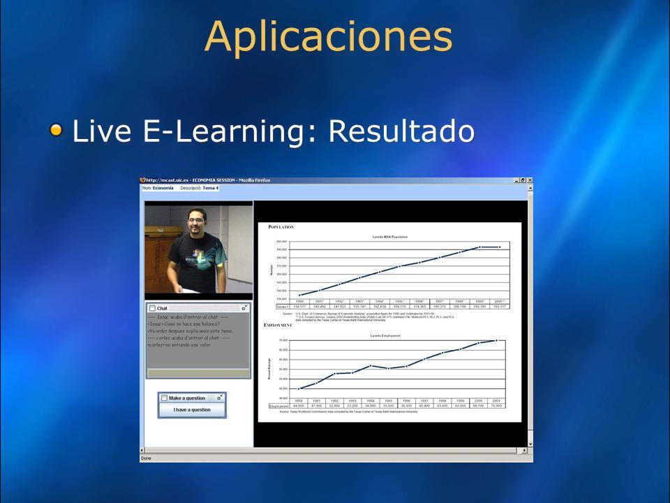 Aplicaciones Live E-Learning: Resultado