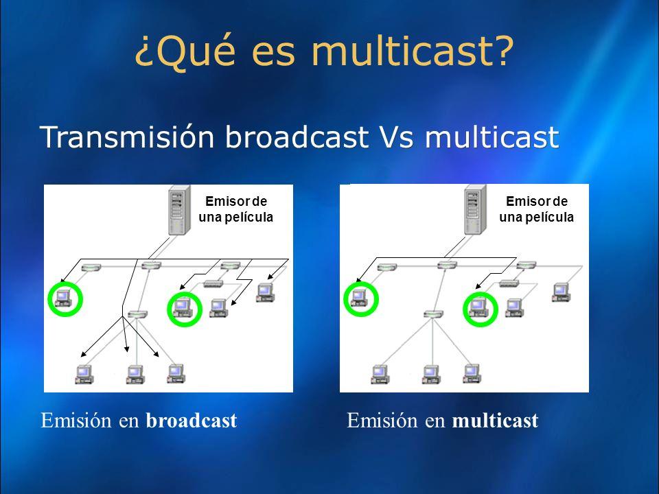 Transmisión broadcast Vs multicast ¿Qué es multicast.