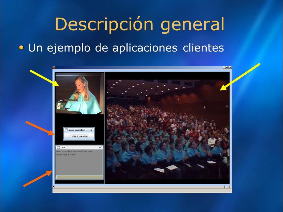Aplicaciones Player Server: características Se transmite el la información ya codificada previamente.