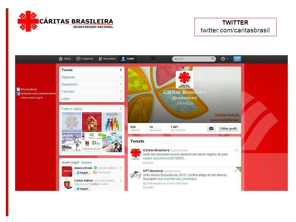 TWITTER twitter.com/caritasbrasil