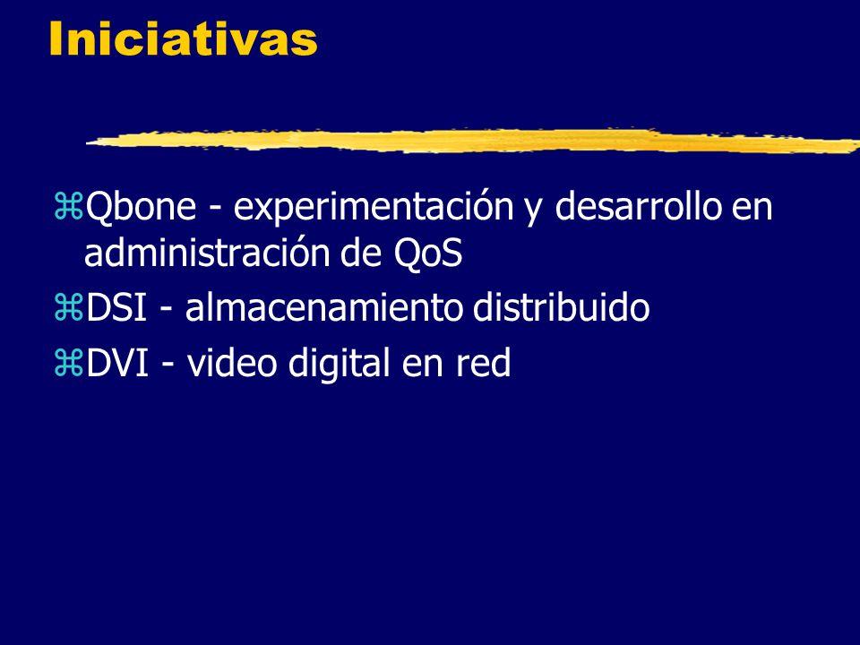 Iniciativas zQbone - experimentación y desarrollo en administración de QoS zDSI - almacenamiento distribuido zDVI - video digital en red