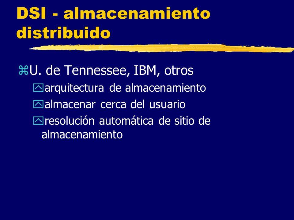 DSI - almacenamiento distribuido zU.