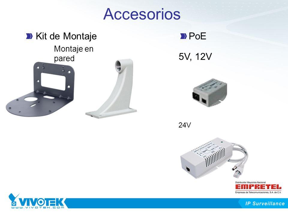 Accesorios Montaje en pared Kit de MontajePoE 5V, 12V 24V
