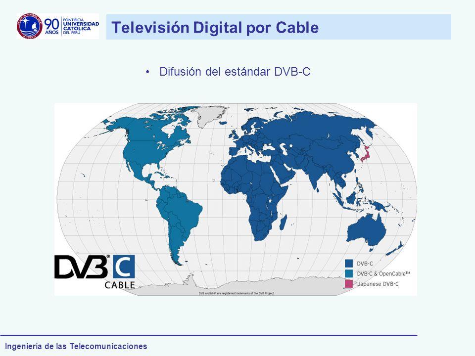 Ingeniería de las Telecomunicaciones Televisión Digital por Cable Difusión del estándar DVB-C