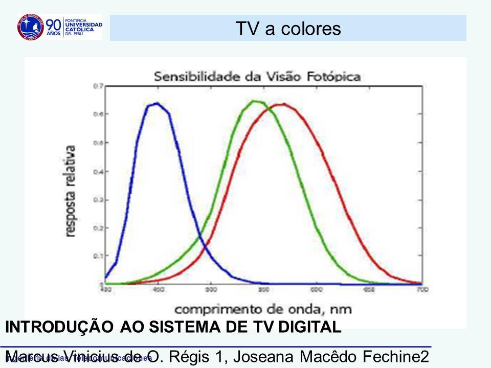 Ingeniería de las Telecomunicaciones TV a colores INTRODUÇÃO AO SISTEMA DE TV DIGITAL Marcus Vinicius de O. Régis 1, Joseana Macêdo Fechine2