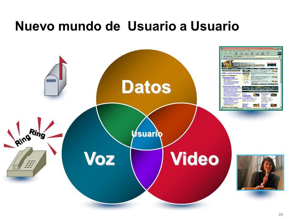 29 Usuario Datos Voz Video Ring Nuevo mundo de Usuario a Usuario