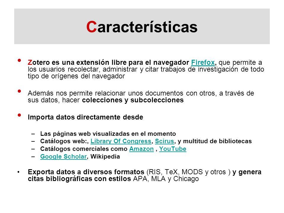 Zotero Sincronización WEB Local Sincronizar