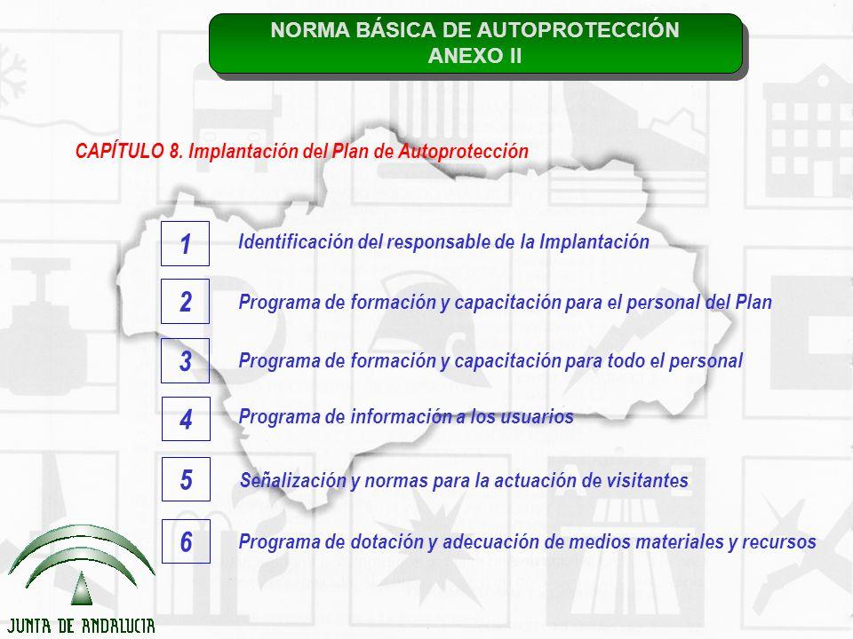 NORMA BÁSICA DE AUTOPROTECCIÓN ANEXO II NORMA BÁSICA DE AUTOPROTECCIÓN ANEXO II CAPÍTULO 8. Implantación del Plan de Autoprotección Identificación del