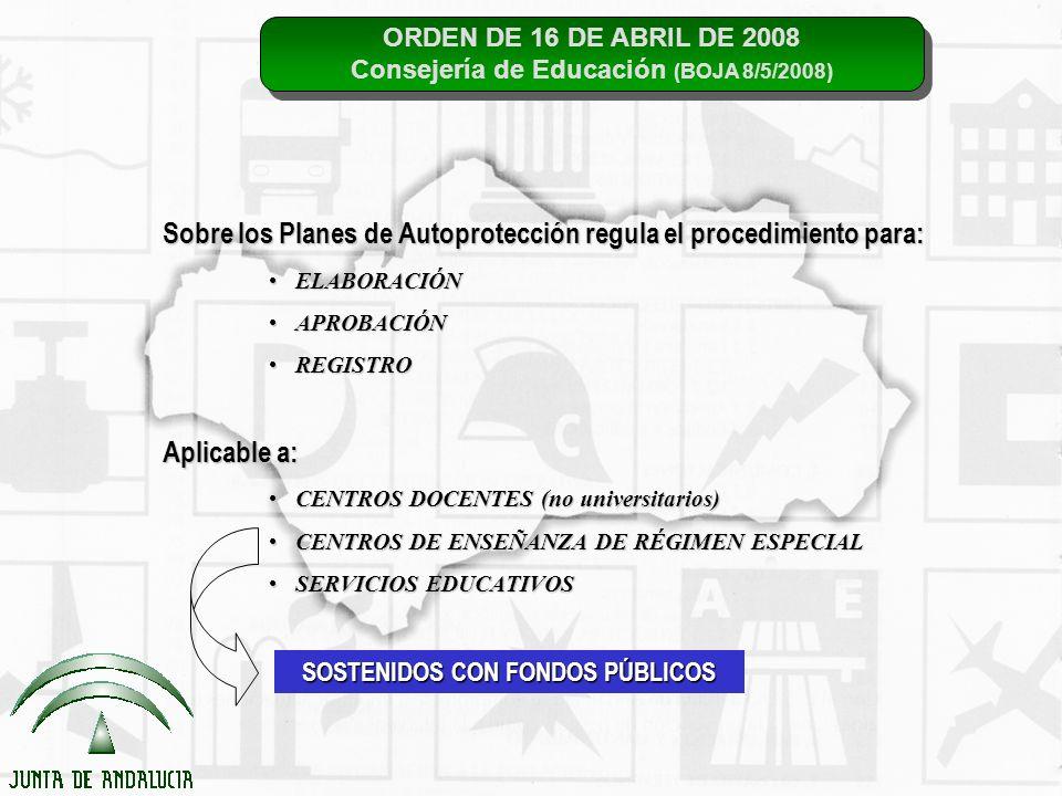 ORDEN DE 16 DE ABRIL DE 2008 Consejería de Educación (BOJA 8/5/2008) ORDEN DE 16 DE ABRIL DE 2008 Consejería de Educación (BOJA 8/5/2008) Sobre los Pl