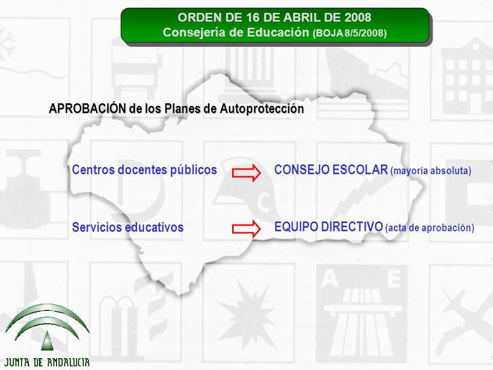 ORDEN DE 16 DE ABRIL DE 2008 Consejería de Educación (BOJA 8/5/2008) ORDEN DE 16 DE ABRIL DE 2008 Consejería de Educación (BOJA 8/5/2008) APROBACIÓN d