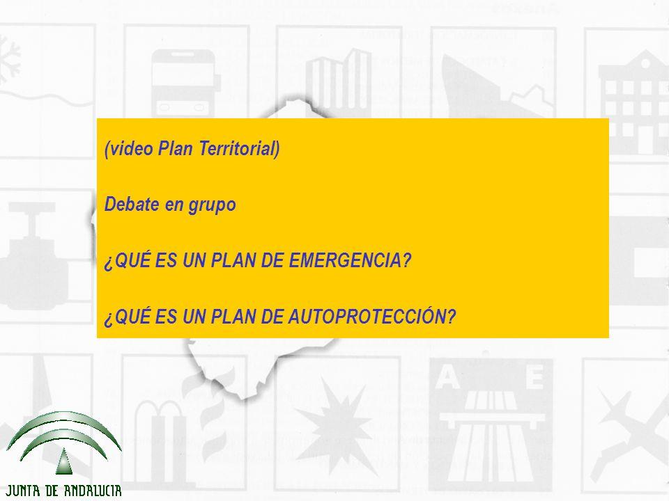 (video Plan Territorial) Debate en grupo ¿QUÉ ES UN PLAN DE EMERGENCIA? ¿QUÉ ES UN PLAN DE AUTOPROTECCIÓN?