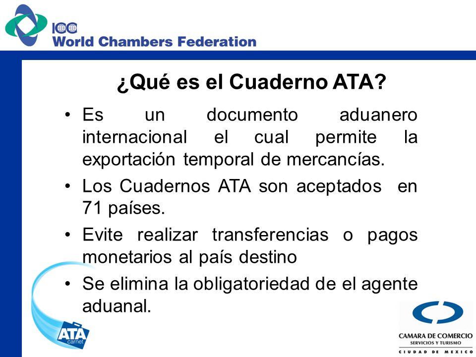 ¿Qué es el Cuaderno ATA? Es un documento aduanero internacional el cual permite la exportación temporal de mercancías. Los Cuadernos ATA son aceptados
