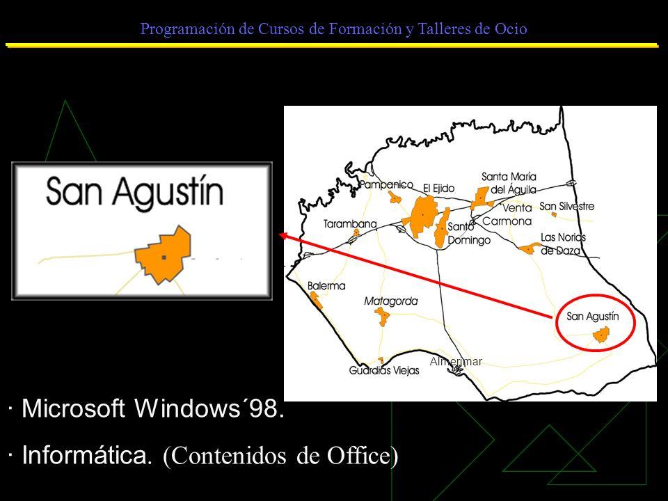 Programación de Cursos de Formación y Talleres de Ocio · Microsoft Windows´98.