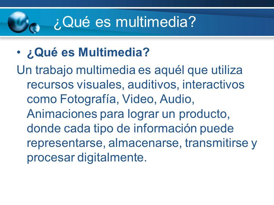¿Qué es multimedia.¿Qué es Multimedia.