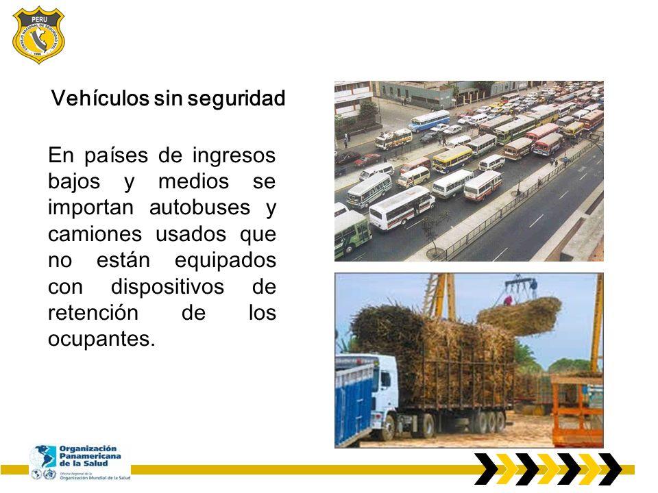 Estos vehículos tienen mayor riesgo de daño en las colisiones y muy escasa estabilidad cuando están llenos o sobrecargados.