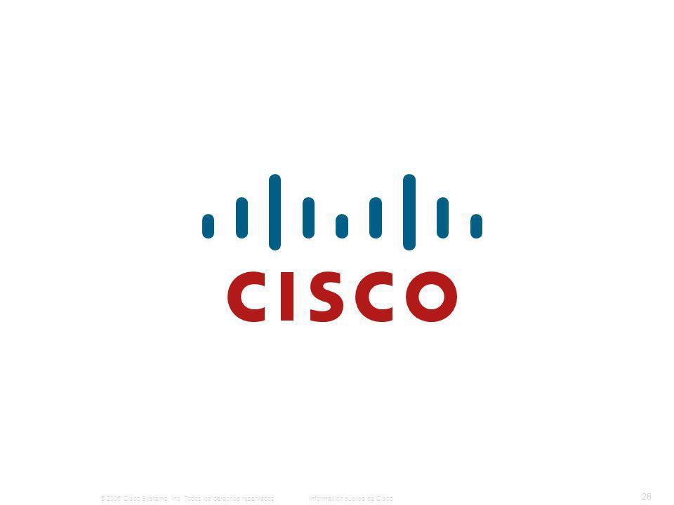 © 2006 Cisco Systems, Inc. Todos los derechos reservados.Información pública de Cisco 28