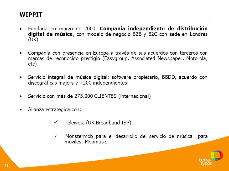 21 WIPPIT Fundada en marzo de 2000.