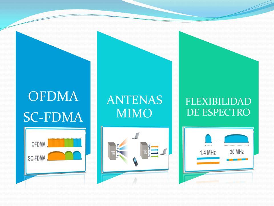 OFDMA SC-FDMA ANTENAS MIMO FLEXIBILIDAD DE ESPECTRO