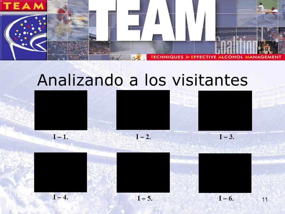 11 Analizando a los visitantes I – 1. I – 4. I – 2.I – 3. I – 5.I – 6.